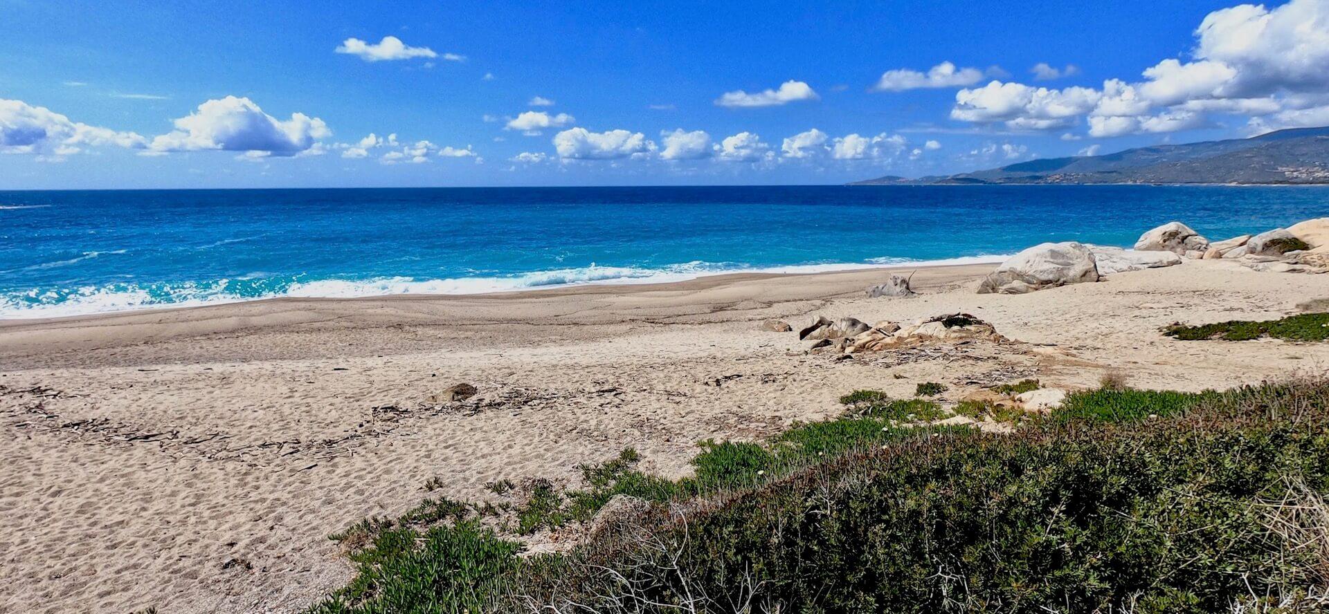 La plage du Liamone en Corse