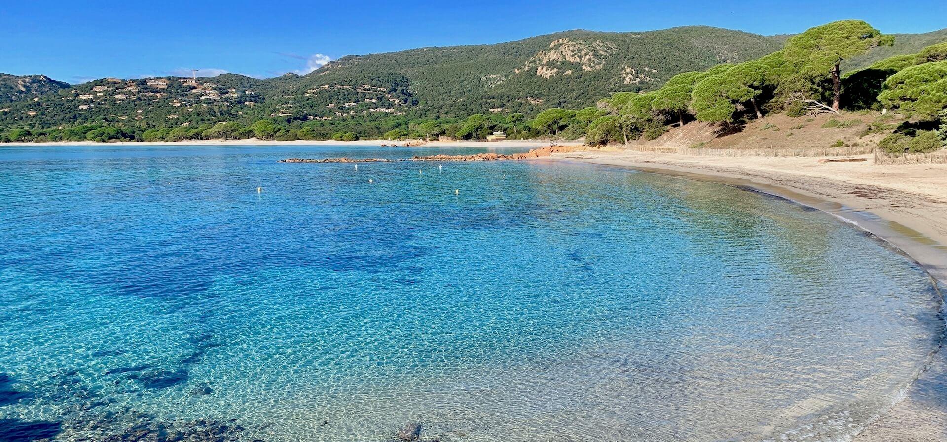 La plage de Palombaggia, Corse
