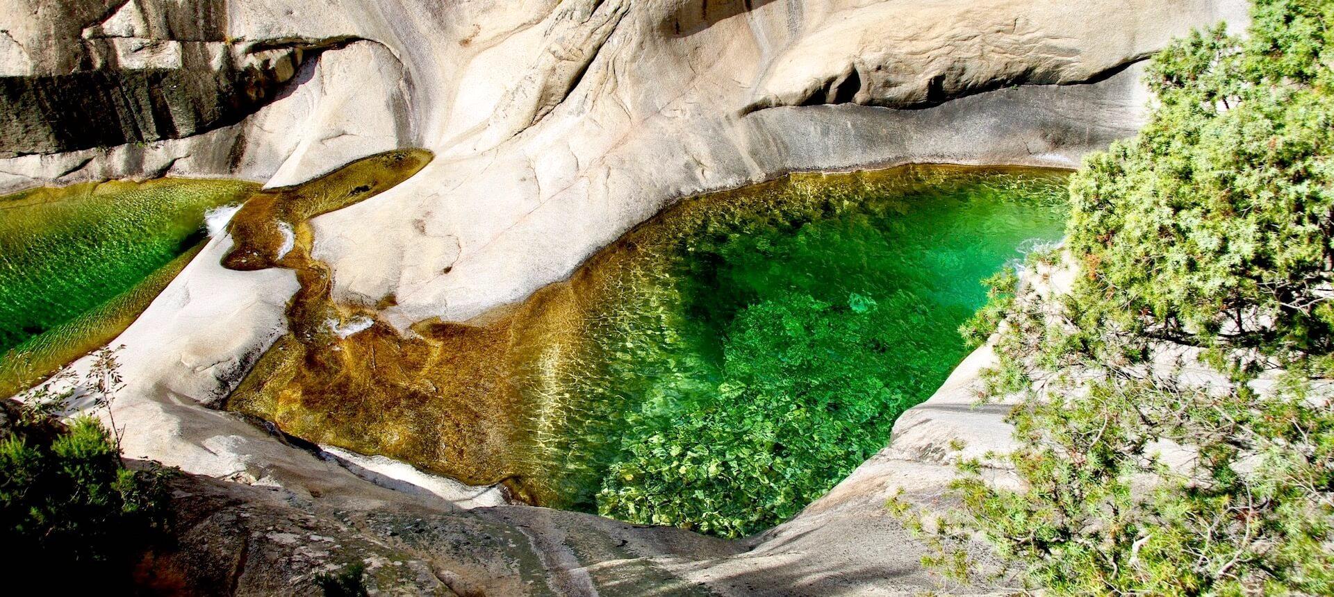 Les cascades de Purcaraccia en Corse