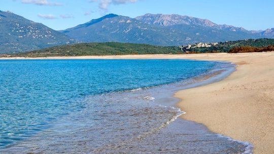 La plage de Portigliolo, Propriano