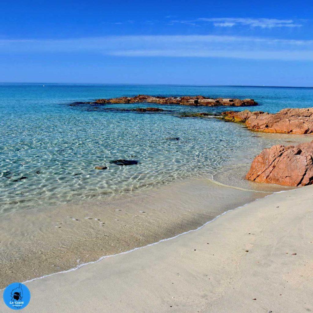 La plage de Menasina en Corse