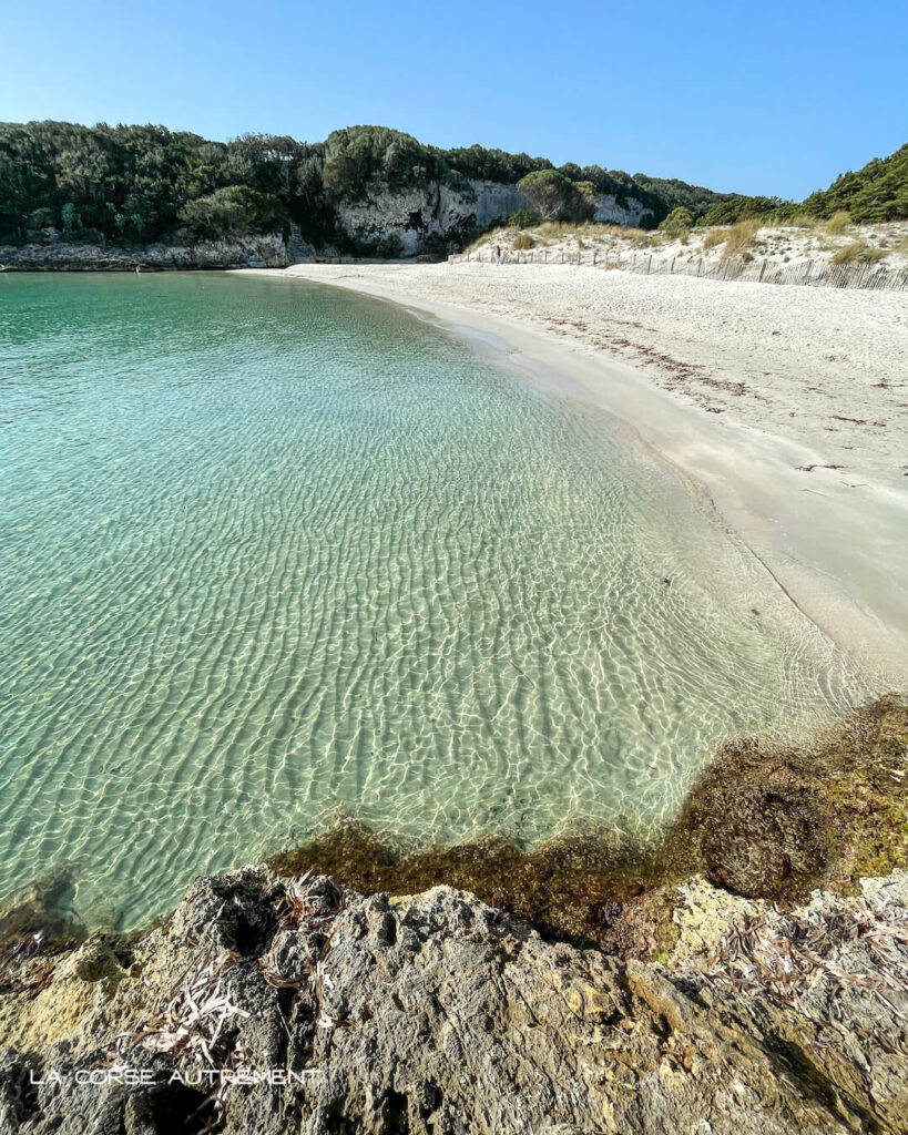 La plage du Petit Sperone, Bonifacio