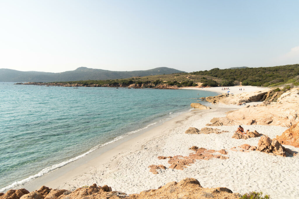 La plage d'Argent en Corse