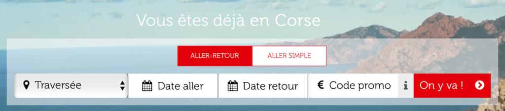 Réservation CORSICA linea